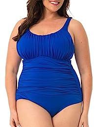 加勒比海沙滩加大码泳衣女式加大码纯色连体泳衣收腹网眼
