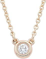 TIFFANY蒂芙尼 鉆石 0.03克拉 18KRG Elsa Peretti系列 Diamonds by the Yard吊墜 項鏈 28334192
