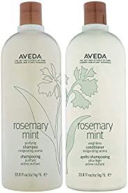 Aveda Rosemary Mint Shampoo & Conditioner Liter Duo (33.8 OZ E