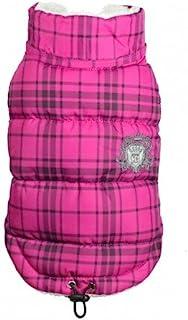 Hip Doggie HD 5PDSP 格子棉背心外套,L 码,粉色