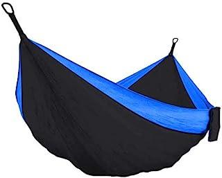 Texas Neuman 野营吊床椅双和单一便携式吊床,带 2 条树带,轻质尼龙降落伞吊床,适用于背包、旅行、海滩、后院、露台