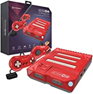 Hyperkin RetroN 3 HD 3 合 1 复古游戏机,适用于 NES、Super Famicom 和 Genesis/Mega Drive (Jasper Red) - Super NES