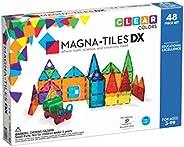 Magna Tiles 48件清晰颜色豪华套装,原创获奖儿童磁性建筑瓷砖,儿童创意和教育建筑玩具,STEM批准