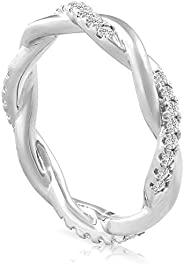 1/3 克拉钻石永恒小巧缠绕永恒戒指 10k 白金