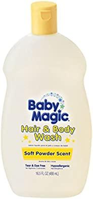 Baby Magic Hair and Body Wash 16.5盎司软粉香味(488毫升)(3件装)