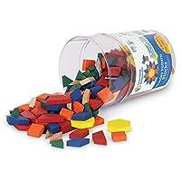 Learning Resources 木制图案积木,早期数学概念,250件套,适合3岁以上儿童