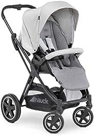 Hauck 组合婴儿车 包括Mars 护腿 / 可承重 25 千克 / 可翻面座椅 / 大轮 / 可折叠 / 大篮 / 兼容独立婴儿提篮 / 银色 灰色