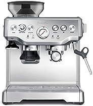 Breville 铂富 BES870XL Barista Express 不锈钢意式咖啡机,大号