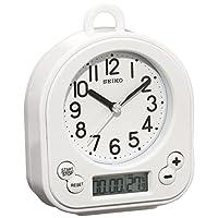 SEIKO 精工 时钟 挂钟 座钟 兼用 生活用防水 计时 温度 表示 模拟 厨房&浴室 白 BZ358W SEIKO