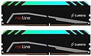 Mushkin Redline Lumina – DDR4 RGB Gaming DRAM – 64GB (2x32GB) UDIMM 内存套件 – 3600MHz (PC4-28800) CL-18 – 288-pin