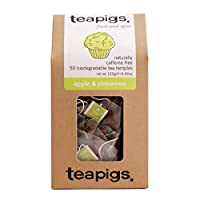 teapigs Apple and Cinnamon Tea Temples, 50-Count