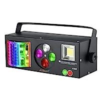 DJ 灯光声控 RGBW 频闪派对迪斯科灯带遥控,4 合 1 多效模式投影灯兼容 DMX-512 适用于家庭舞蹈婚礼活动派对