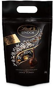 Lindt 瑞士蓮 Lindor系列軟心巧克力球 特濃黑巧克力 70% 約80粒,1kg裝
