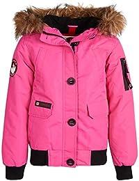 CANADA WEATHER GEAR 女童外套飞行员派克大衣夹克,带人造皮草帽
