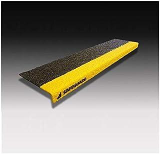 SAFEGUARD 楼梯用防滑罩 6英寸2色 宽609 x 深150 x 高25mm 基材:FRP 表面:硅汽车&树脂 黑色/黄色 混凝土安装螺丝