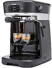 Breville 铂富 多合一咖啡机,意式浓缩咖啡,滴滤和胶囊咖啡机,带有奶泡器,兼容Dolce Gusto[VCF117]