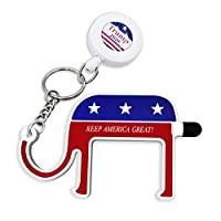 Trump 2020 无接触门打开器工具,无*钥匙工具,带可伸缩钥匙链,Trump MAGA 商品