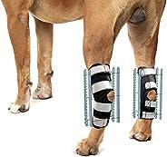 NeoAlly 3 合 1 狗狗夹板支架 [长版] 适用于后腿支撑、稳定和固定,帮助犬后腿康复、稳定性和移动性(1 对)