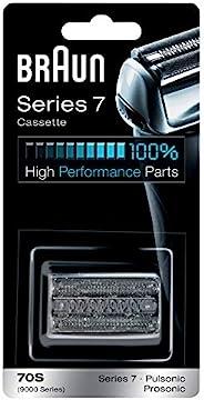 BRAUN 博朗 剃須刀替換部件 70S,與7系列剃須刀兼容,銀色