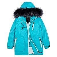 Wantdo 女童防水滑雪夹克派克大衣户外夹克防风保暖冬季外套