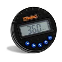 Summit Tools 1-360° 数字角度测量仪(±2° 精确度),50 个内存插槽,顺序LED和蜂鸣器提醒,LCD 显示屏,峰值和跟踪模式,精确校准