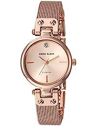Anne Klein 女士石英金属不锈钢腕表,玫瑰金,均码