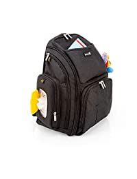 Safety 1st 尿布包,适合外出携带,尿布包,包括湿巾盒,带快速取用,尿布垫和 17 个不同的储物格。