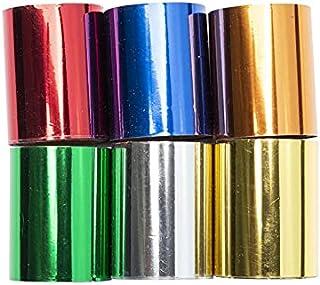 Modelcraft 什锦箔 x6,红色,蓝色,*,青铜色,银色和金色,4cm x 3m