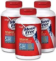 Move Free 益节 葡萄糖胺和软骨素,有益于+ msm和d3关节(一瓶120粒),3瓶,360粒