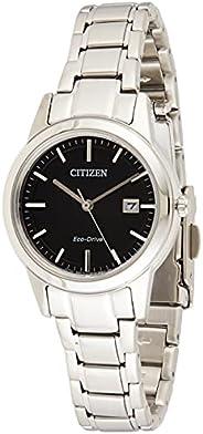 Citizen 西铁城 女士刻度盘石英手表 不锈钢表链 FE1081-59E