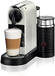 De'Longhi 德龙 Nespresso Citiz 咖啡机 EN267.WAE,高压泵和理想的热量控制 带有Aeroccino奶泡器,节能功能,奶油白