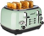 Korona 21675 烤面包機,4 片,薄荷,烘烤度顯示,解凍,烤爐,加熱,1630 W,面包附件,面包屑抽屜,面包盤定位