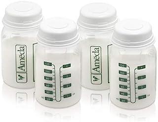 Ameda *存储瓶包括:(4) 4 盎司(约 113.4 克)奶瓶,带 (4) 个2 个密封盖,用于*储存,与 Ameda 品牌吸奶器、精细和大多数标准吸奶器套件