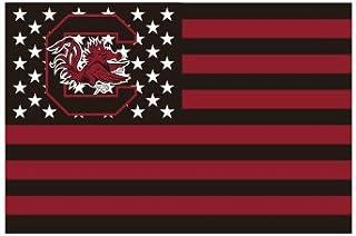南卡罗来纳州Gamecock 星条旗 3 x 5 英尺