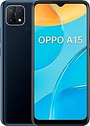 OPPO A15 智能手机,6.5 英寸 HD+ 显示屏,4.230 mAh 电池 + 10 W 快速充电,13 MP 三重摄像头,双 SIM + mSD,存储可扩展至 256 GB 动态黑色 - 德国版本