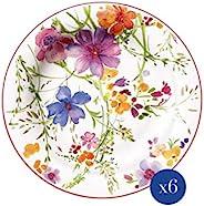 Villeroy & Boch - Mariefleur Basic 早餐盘,6件,21厘米,优质瓷器,白
