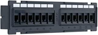 12/24/48 端口 Cat5/5e 非屏蔽壁装机架安装接插板,向后兼容 CAT 3/4/5 电缆 12 Port