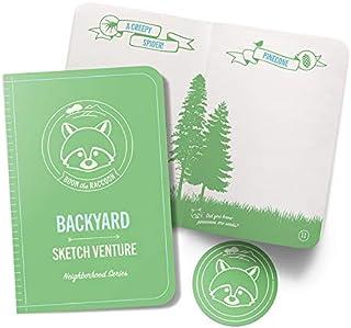 My Sketchventure儿童自然日记素描本 - 后院冒险书指南儿童户外日记自然、昆虫、动物、树木带贴纸(后院书+贴纸)