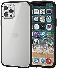 Elecom 宜丽客 iPhone 12 / 12 Pro 手机壳 混合 耐冲击 TOUGHSLIM LITE 镜框颜色 黑色 PM-A20BTSLFCBK