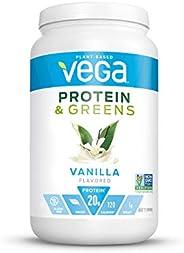 Vega 蛋白質&Greens 香草 25份 1桶26.8盎司(760g)植物蛋白粉 無麩質 非乳制品,純素,非大豆,Non