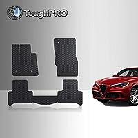 ToughPRO 地垫 - 全天候 - 重型 - 橡胶- 适用于 Alfa Romeo Stelvio 2018-2019 2018-2020 Stelvio Floor Mats Set Black 黑色 2282019102