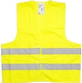警告背心*背心 DIN EN471 黄色橙色 L XL XXL XXXL 吊带意外(XXL 黄色、1 马甲)