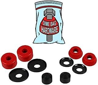 滑板卡车重建套件衬套垫圈 适用于 2 辆卡车(红色)