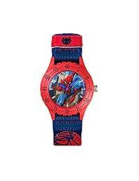 蜘蛛俠兒童石英手表, multicolour 表盤 ANALOGUE 顯示和藍色橡膠表帶 spd3495