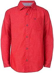 Calvin Klein 男童长袖系扣衬衫