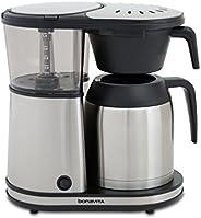 Bonavita BV1901TS Connoisseur 8 杯一键式咖啡机,配有悬挂式过滤篮和保温咖啡壶