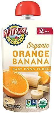 earth's best organic stage 2,橙色&香蕉,4盎司