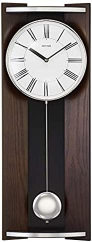 节奏时钟 柱 挂钟 模拟 现代生活M05 节奏 木 茶 RHYTHM 4MPA05RH06