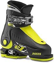 Roces Idea Up 可调节儿童滑雪靴 - 16-18 / 黑色-柠檬绿