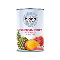 Biona Organic Tropical Fruit Cocktail in Fruit Juice, 400 g, (Pack of 6)
